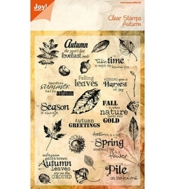 Joy! Clearstamp Autumn 6410/0098
