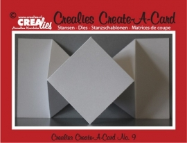 Crealies Create A Card no. 9 stans voor kaart CCAC09 / 10,5 cm x 29,8 cm