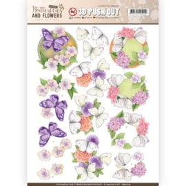 3D Push Out - Jeanine's Art - Classic White Butterflies SB10219