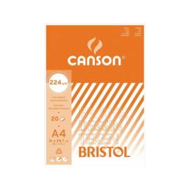 Canson A4 Tekenblok Bristol 224gr