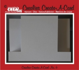 Crealies Create A Card no. 6 stans voor kaart CCAC06 / 21 cm x 14,5 cm
