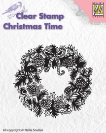 NS Clear stamps - Christmas Time - Wreath CT013
