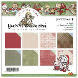 Paperpack Christmastime 3 CDPP10001  15 x 15 cm