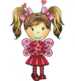 Paper Nest Dolls Rubber Stamps - Love Bug Emma PND2151