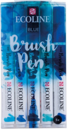 Ecoline Brush pen set Blue