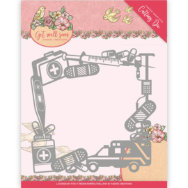 Die - Yvonne Creations - Get Well Soon - Get Well Frame YCD10100