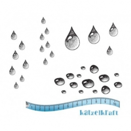 KatzelKraft rubberstempel KTZ138 Waterdrops