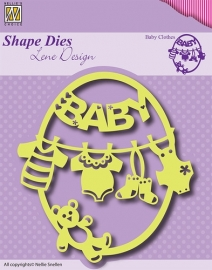 Shape Die Lene Design - Frame Baby-clothes-bear SDL012