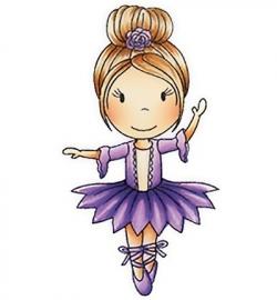 Paper Nest Dolls  Rubber Stamps - Ballerina Ellie PND1150