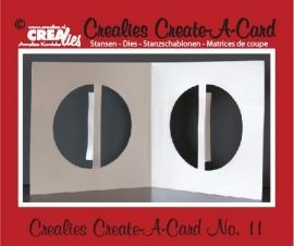 Crealies Create A Card no. 11 stans voor kaart CCAC11 / 13 cm x 26 cm