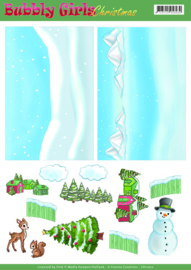 Background Sheets - Yvonne Creations - Bubbly Girls Christmas - 2