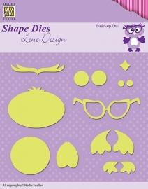 Shape Dies - Lene Design - Build-up die owl SDL024