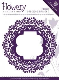 Die - Precious Marieke - Flowery - Fleur-de-Lis Frames PM10059