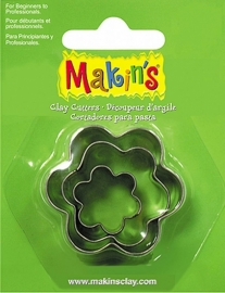 Makin's Clay Tin Cutter Flower 3 PC Set (36008)