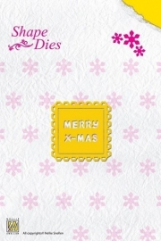 Nellie`s Shape Die Text Merry Christmas