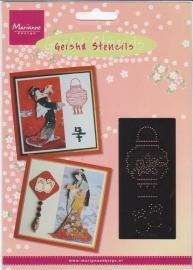Geisha stencil MG0842