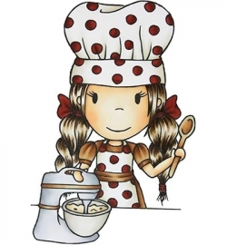 Paper Nest Dolls Rubber Stamps - Chef Angelina PND7001