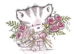 Wild Rose Studio`s A7 stamp set Elsie with Roses CL369