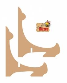 Let`s get Bizzee houder 3 paar MDF