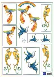 MD Knipvel Birds Blue IT554