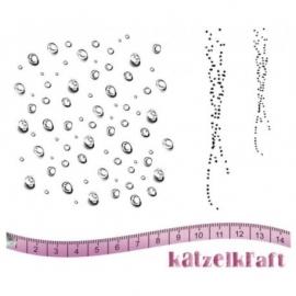 KatzelKraft rubberstempel KTZ147 Droplets Frech style