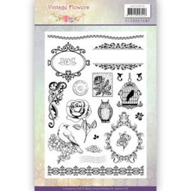 JACS10013 - Clearstamp - Jeanines Art - Vintage Flowers