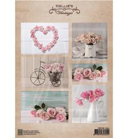 NEVI080 Vintage Decoupage Sheet Wedding/roses