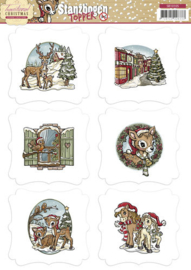 Puch-out Topper Traditional Christmas SB10105