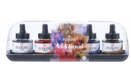 Talens Ecoline Set Met 5 Kleuren Flacon Met Pipet 30Ml - Additional