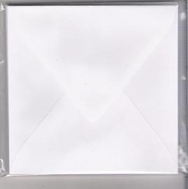 Enveloppen 16 x16 cm Roma wit 120gr