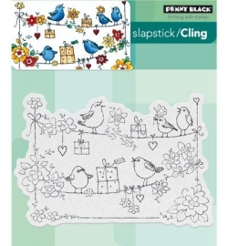 Penny Black Clingstamp Cheery chirps 40435