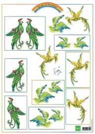 MD knipvel Birds Green IT556