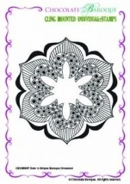 Dots 'n Stripes Baroque Ornament CBCM0057