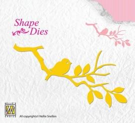 Shape Dies - Birdie on branch SD106