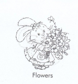 Nellie`s Clearstamp Hoppie Flowers 002
