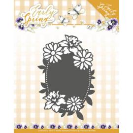 Precious Marieke Spring Flowers Oval label snijmal PM10114