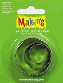 Makin's Clay Tin Cutter Round 3 PC Set (36001)