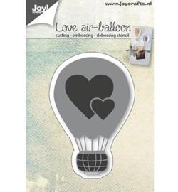 Joy! snij- embossingmal  Liefdes Luchtballon 6002/0665