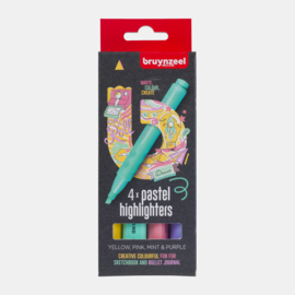 Bruynzeel Highlighters set pastel 4 colours