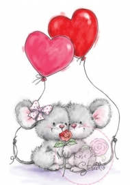 Mice With Balloons CL285