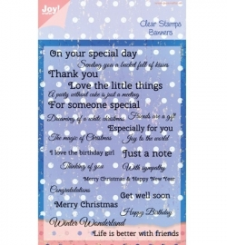 Joy Clearstamp  Banner Text 6410/0338