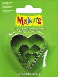 Makin's Clay Tin Cutter Heart 3 PC Set (36007)
