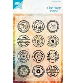 Joy Stempel tekst Buttons - Veel Geluk(NL) 6410/0039