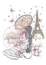 Wild Rose Studio`s A7 stamp set Parisian Stroll CL367