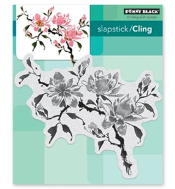 Penny Black Slapstick/Cling Stamp Magnolia Rhapsody 40-535