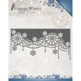 Die - Amy Design - Vintage Winter - Snowflake Swirl Border ADD10125