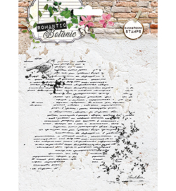 SL Stamps Romantic Botanic Background RB225