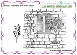 Another Brick in the Walled Garden cling mounted rubber stamp 051