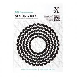 Xcut Nesting Dies - Scalloped Circle (5pcs)