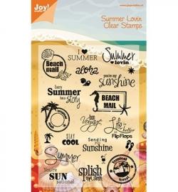 Joy Stempel tekst Summer Holiday 6410/0027
